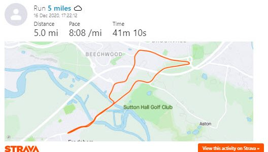 Local 5km, 5 miles and 10km running loops