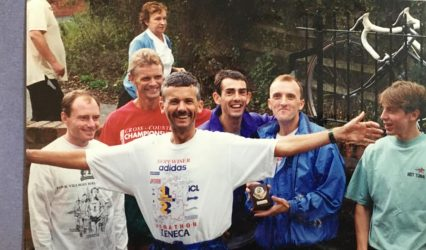 26 years ago – 2nd in Cheshire Road Relays